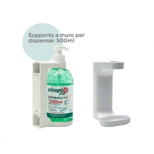 SUPPORTI DA PARETE BIANCHI PER DISPENSER GEL DISINFETTANTE da 500 ml - n. 3 pezzi